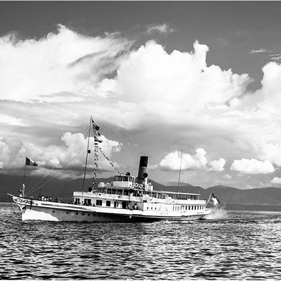 Clouds Photograph - The Ferry by Aleck Cartwright