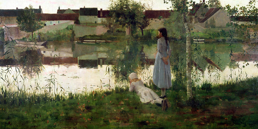 The Painting - The Ferry by William Stott
