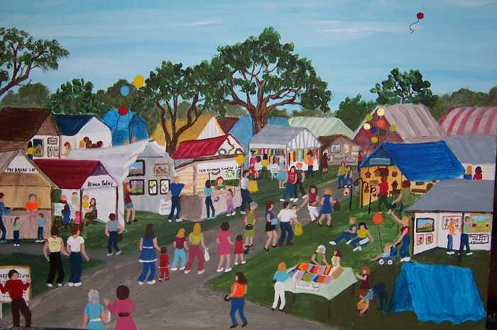 The Festival Painting by Vivian Esler Trout