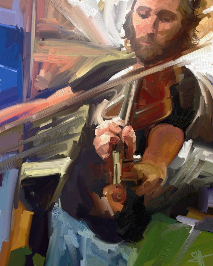 Ipad Digital Art - The Fiddler by Scott Waters