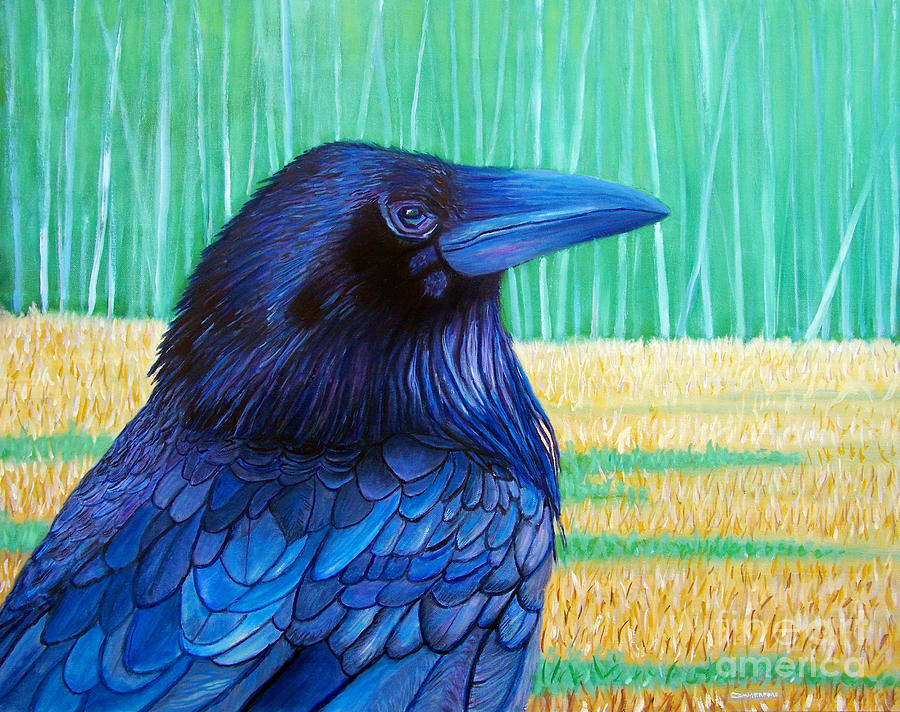 Raven Painting - The Field Of Dreams by Brian  Commerford
