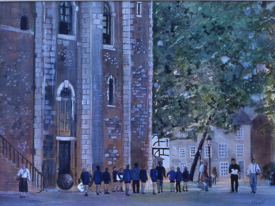 London Painting - The Field Trip by Victoria Heryet