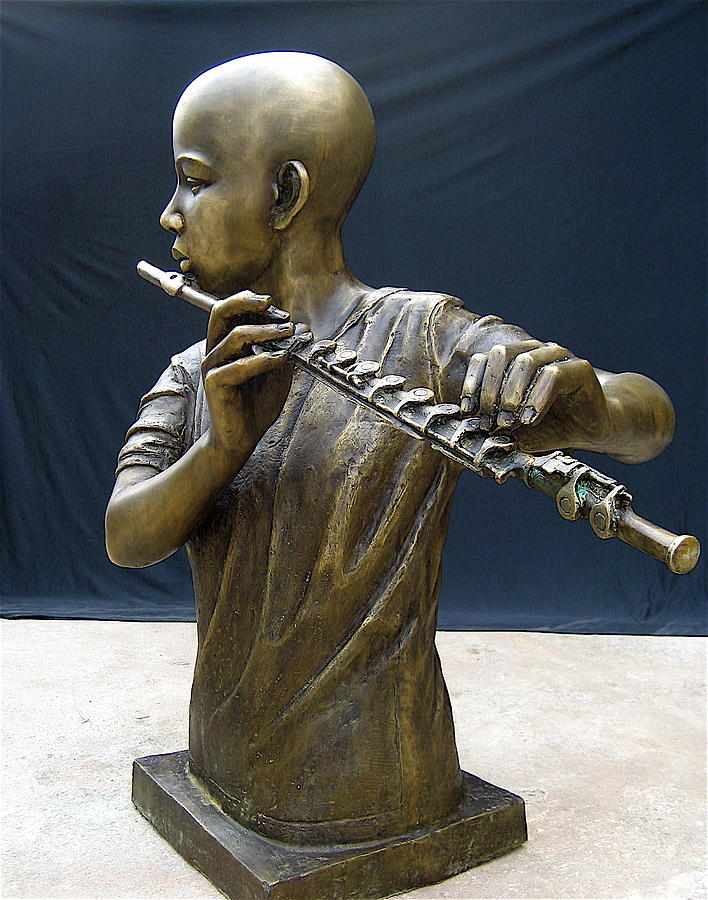 Music Sculpture - The Fifer by Curtis James