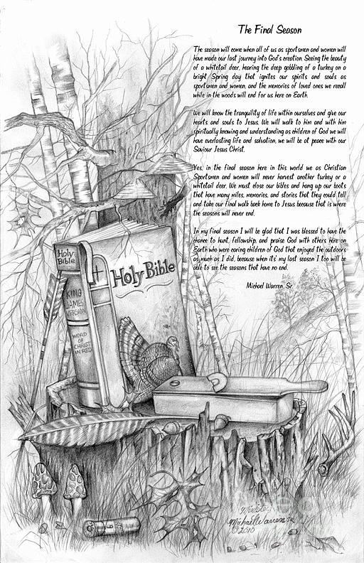 Spiritual Writing Drawing - The Final Season by Michael Warren