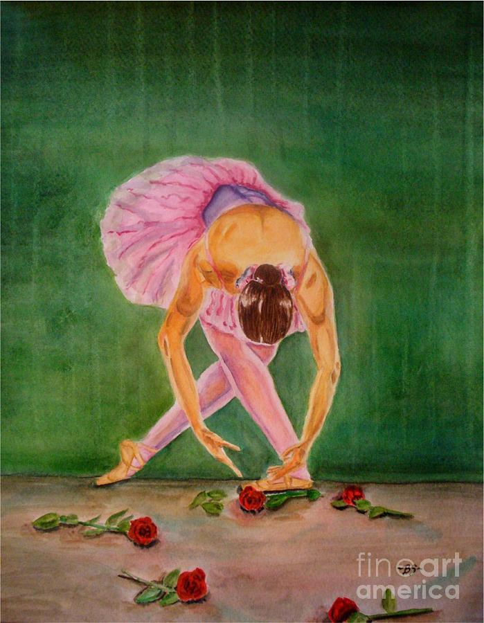 Dancer Painting - The Finale by Bonnie Schallermeir