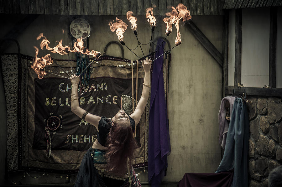 Renaissance Faire Photograph - The Fire Dancer by Kristy Creighton