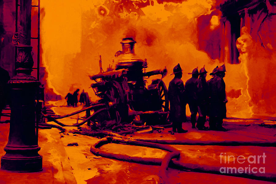 Transportation Photograph - The Fire Fighters - 20130207 by Wingsdomain Art and Photography