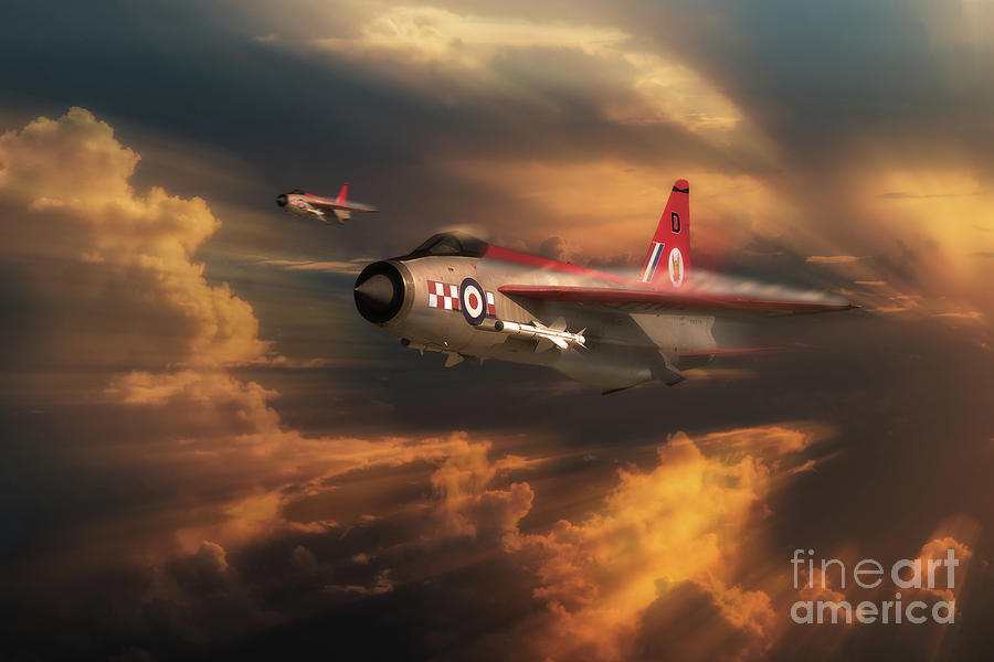 Lightning Digital Art - The Firebirds by J Biggadike