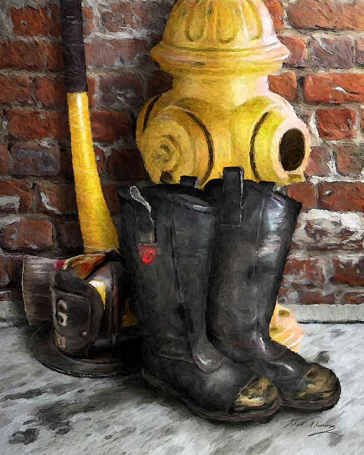 Fireman Digital Art - The Fireman by Bill Fleming