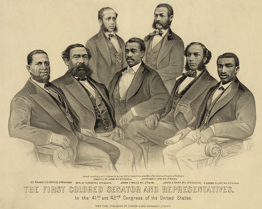 History Photograph - The First African American Senator by Everett
