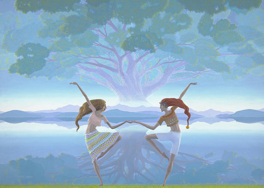 Landscape Painting - The First Dance by Jonathan Day