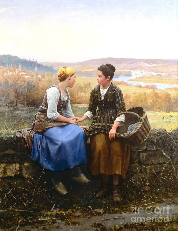 Daniel Ridgway Knight Painting - The First Grief by Celestial Images
