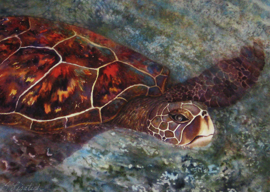 Honu Painting - The First Honu by Kerri Ligatich