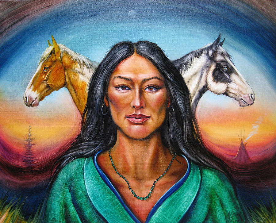 Native American Painting - The First Horse Whisperer by Martin Katon