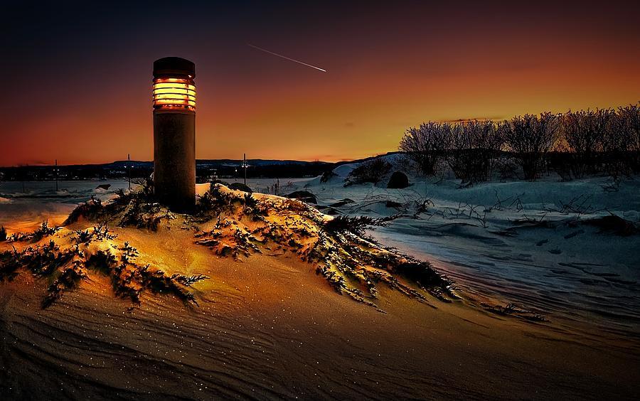 First Light Digital Art - The first light at sunset by Jeff S PhotoArt