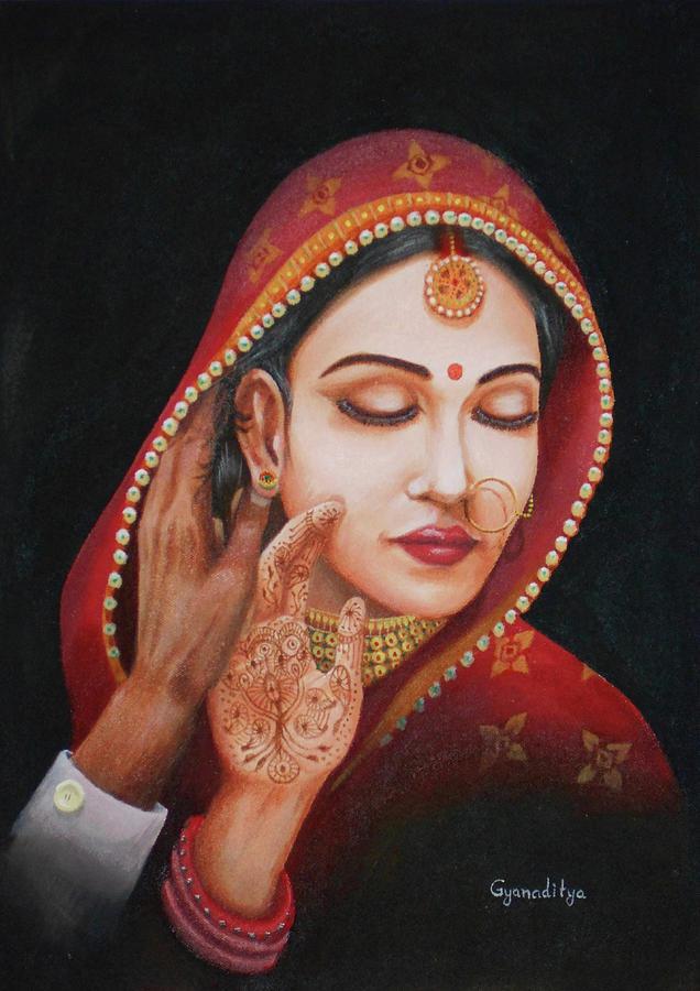 Bride Painting - The First Night by Gyanaditya Mourya
