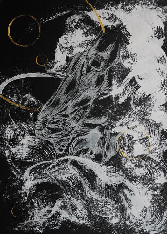 Thailand Painting - The First Noble Truths - Suffer by Phonphan Wichukijmongkol