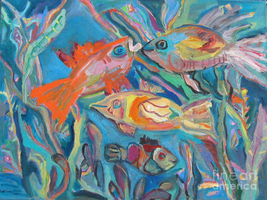Fish Painting - The Fish by Marlene Robbins