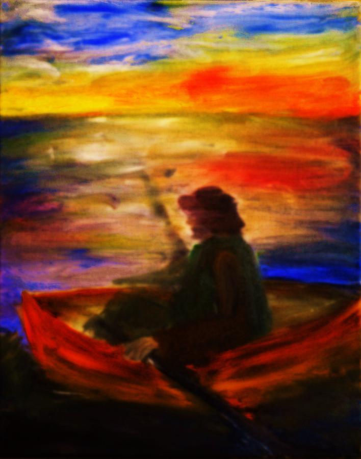 Fisherman Painting - The Fisherman by Evelina Popilian