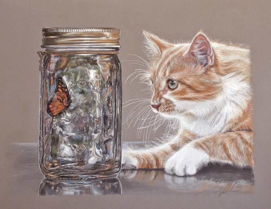 Cat Pastel - The Fixation by Terry Kirkland Cook
