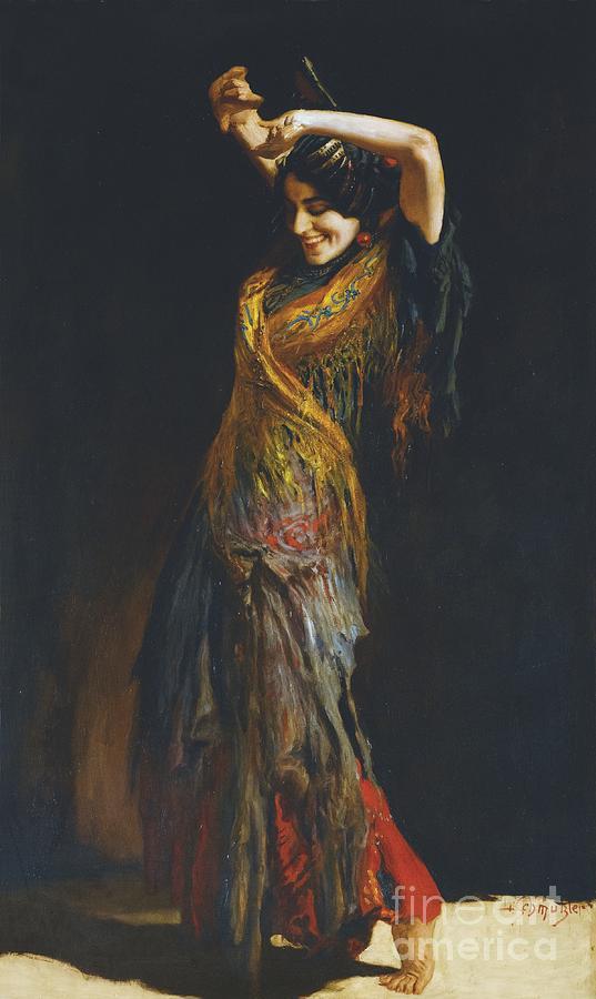 Leopold Schmutzler Painting - The Flamenco Dancer by Leopold Schmutzler