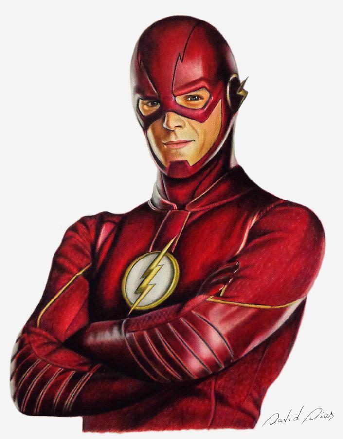 The Flash Drawing By David Dias