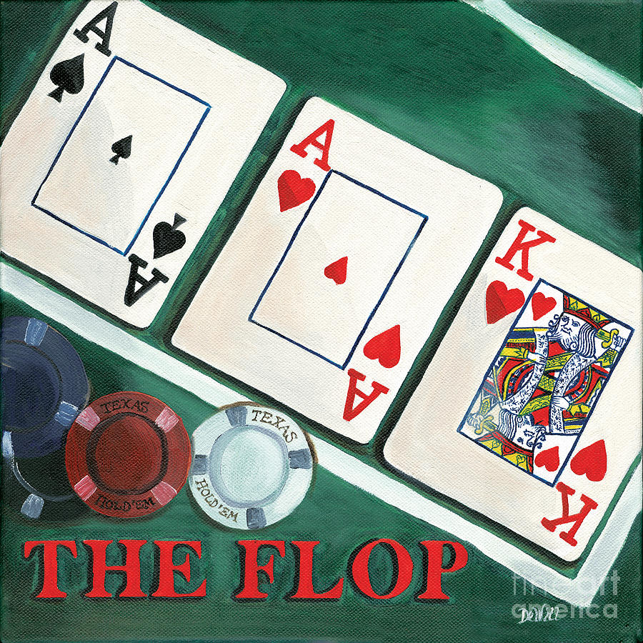 Texas Hold Em Painting - The Flop by Debbie DeWitt