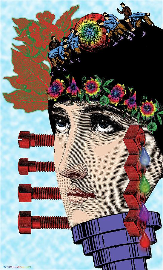 Digital Collage Digital Art - The Flow Of Memory by Eric Edelman