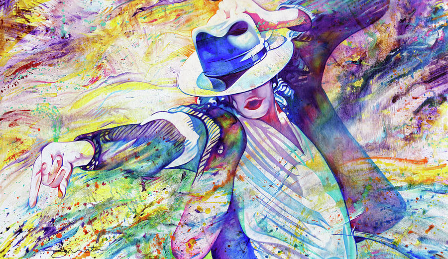 Michael Jackson Painting - The Flow Of Micheal Jackson by Joshua Morton