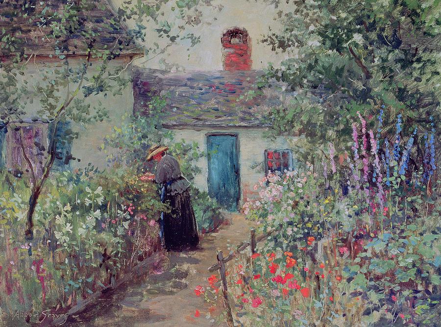 The Flower Garden Painting - The Flower Garden by Abbott Fuller Graves