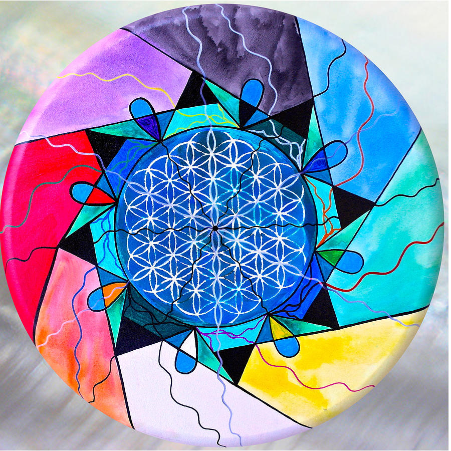 The Flower of Life by Teal Eye Print Store