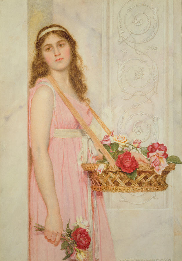 The Painting - The Flower Seller by George Lawrence Bulleid