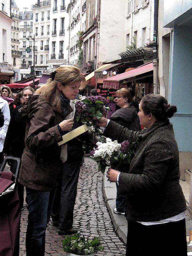 Flower Seller Photograph - The Flower Seller by Lori  Secouler-Beaudry