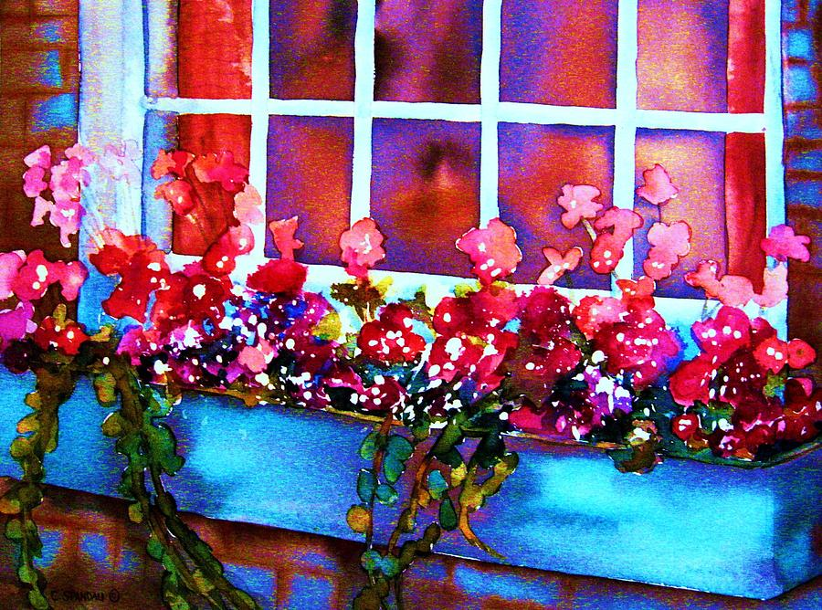 Flowers Painting - The Flowerbox by Carole Spandau