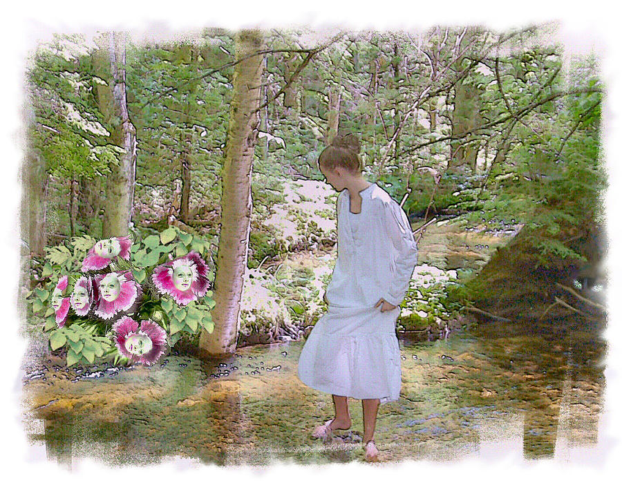 Young Girl Photograph - The Flowering Brook by Rose Guay