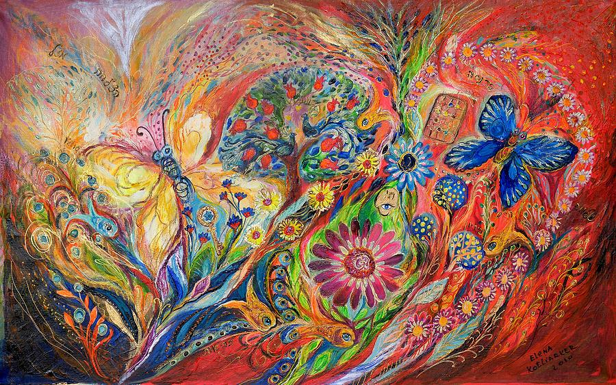 Original Painting - The Flowers And Trees by Elena Kotliarker