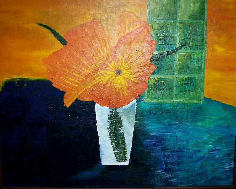 Flowers Painting - The Flowers In The Vase by Roy Penny