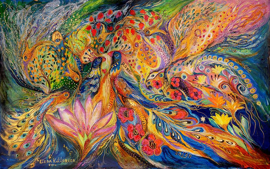 Original Painting - The Flowers Of Sea by Elena Kotliarker