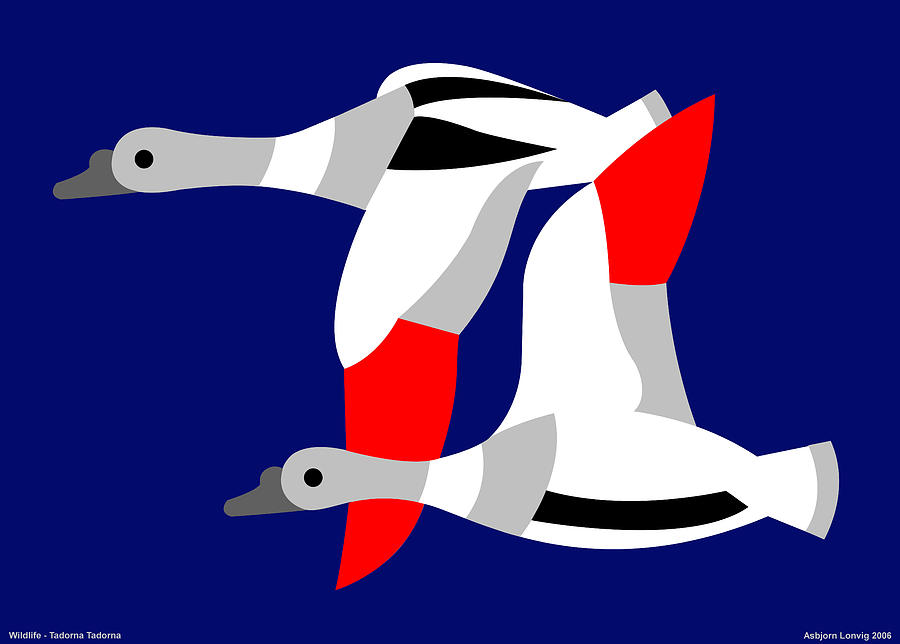 The Flying Ducks Digital Art by Asbjorn Lonvig