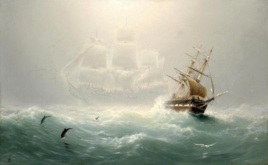 The Flying Dutchman Painting - The Flying Dutchman by Charles Temple Dix