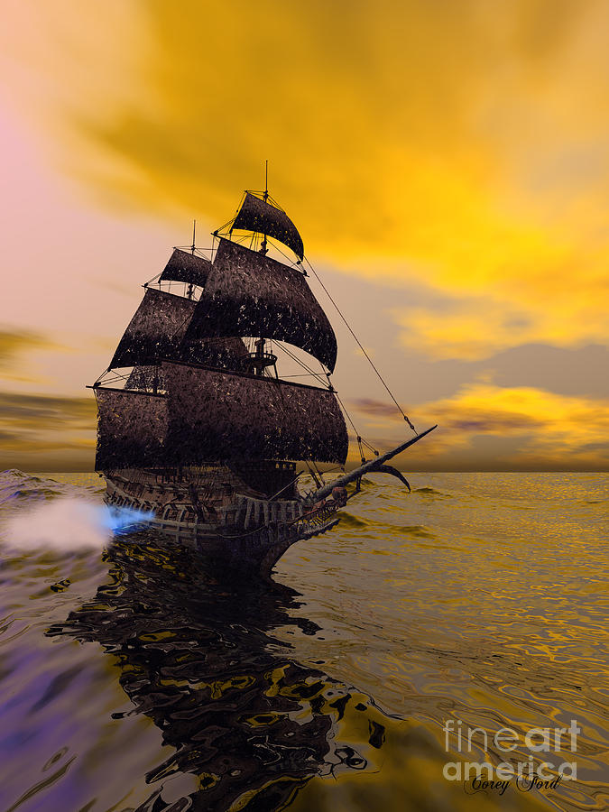 The Flying Dutchman Painting - The Flying Dutchman by Corey Ford
