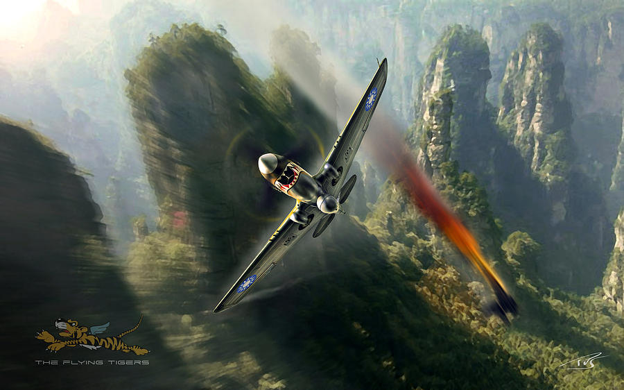 The Flying Tigers Digital Art by Peter Van Stigt