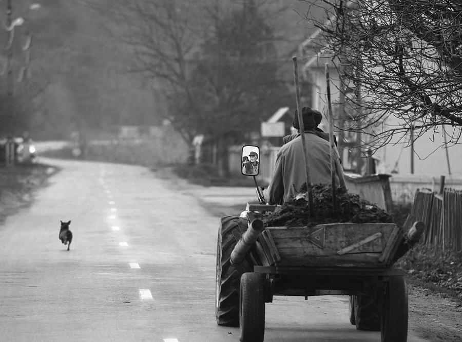 Street Photograph - The Followers by Mihnea Turcu