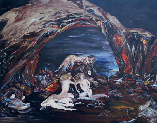 The Forbidden Cave Painting by Dudie Holder