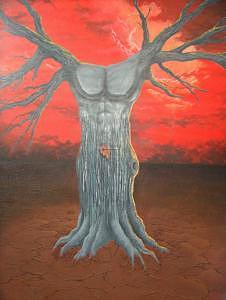 Acrylic Painting - The Forbidden Fruit by William Burton Jr