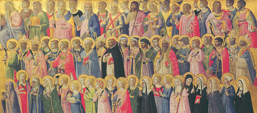 Fra Painting - The Forerunners Of Christ With Saints And Martyrs by Fra Angelico