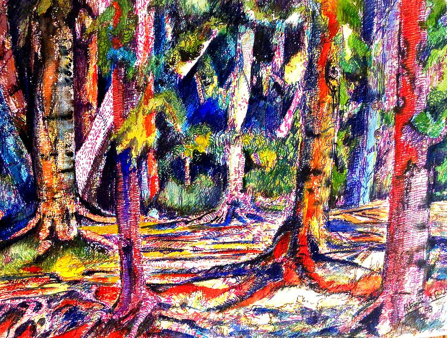 Trees Painting - The Forest Before The Trees by Patricia Bigelow