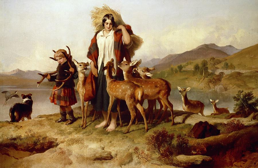 The Painting - The Foresters Family by Sir Edwin Landseer