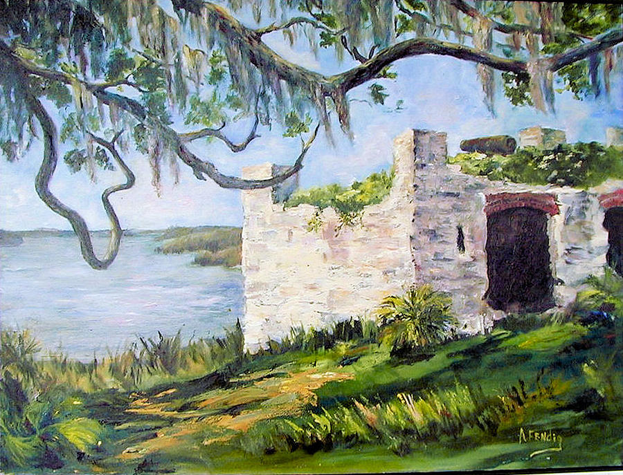The Fort At Frederica Greeting Card by Albert Fendig