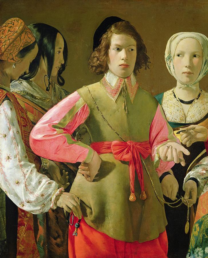 The Painting - The Fortune Teller by Georges de la Tour